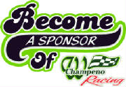 Become A Sponsor of Wade Champeno Racing