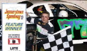 Champeno recieving first at Jennerstown Speedway