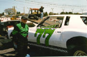 Wade Champeno Posing by his Street Stock Race Car